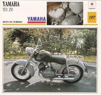 MOTO DA TURISMO YAMAHA YD1 250 GIAPPONE 1957 DESCRIZIONE COMPLETA SUL RETRO AUTENTICA 100% - Advertising