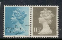 GB 1981 Machin 0.5p Turquoise Blue 2B, 11.5p Drab BL FU - 1952-.... (Elizabeth II)