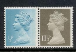 GB 1981 Machin 0.5p Turquoise Blue 2B, 11.5p Drab BL MUH - 1952-.... (Elizabeth II)
