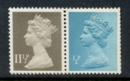 GB 1981 Machin 0.5p Turquoise Blue 2B, 11.5p Drab BR MUH - 1952-.... (Elizabeth II)