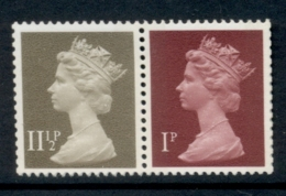 GB 1981 Machin 1p Crimson 2B, 11.5p Drab BR MUH - 1952-.... (Elizabeth II)