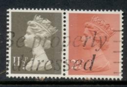 GB 1981 Machin 2.5p Rose Red 2B, 11.5p Drab BL FU - 1952-.... (Elizabeth II)
