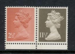 GB 1981 Machin 2.5p Rose Red 2B, 11.5p Drab BL MUH - 1952-.... (Elizabeth II)