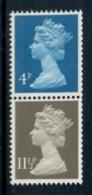 GB 1981 Machin 4p Greenish Blue 2B, 11.5p Drab CB MUH - 1952-.... (Elizabeth II)