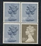 GB 1981 Machin 11.5p Drab BL, 14px3 Grey Blue 2b Booklet Pane MUH - 1952-.... (Elizabeth II)