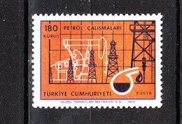 Turchia  -  1969.  Estrazione Del Petrolio. Oil Extraction. MNH - Petrolio