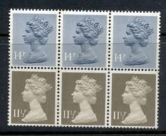 GB 1981 Machin 11.5px3 Drab BR, 14px3 Grey Blue 2B Booklet Pane MUH - 1952-.... (Elizabeth II)