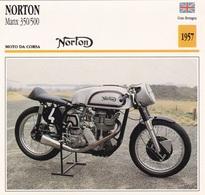 MOTO DA CORSA NORTON MANX 450/500  GRAN BRETAGNA 1957 DESCRIZIONE COMPLETA SUL RETRO AUTENTICA 100% - Advertising