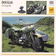 MOTO DA TURISMO DOUGLAS 350 DRAGONFLY   GRAN BRETAGNA 1957 DESCRIZIONE COMPLETA SUL RETRO AUTENTICA 100% - Advertising
