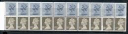 GB 1981 Machin 11.5px10 Drab CB, 14p10 Grey Blue 2B Booklet Pane MUH - 1952-.... (Elizabeth II)