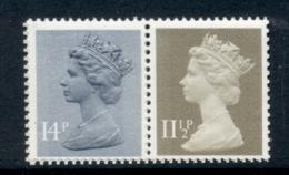 GB 1981 Machin 14p Grey Blue 2B, 11.5p Drab BL MUH - 1952-.... (Elizabeth II)
