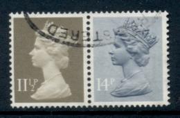 GB 1981 Machin 14p Grey Blue 2B, 11.5p Drab BR FU - 1952-.... (Elizabeth II)