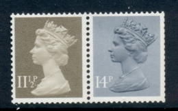 GB 1981 Machin 14p Grey Blue 2B, 11.5p Drab BR MUH - 1952-.... (Elizabeth II)