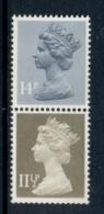 GB 1981 Machin 14p Grey Blue 2B, 11.5p Drab CB MUH - 1952-.... (Elizabeth II)