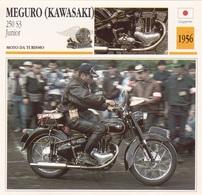 MOTO DA TURISMO MEGURO (KAWASAKI) 250 S3 JUNIOR GIAPPONE 1956 DESCRIZIONE COMPLETA SUL RETRO AUTENTICA 100% - Advertising