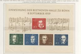 PIA - GERMANIA - 1959  : Inaugurazione Della Beethoven-Halle E Anniversari Di Grandi Musicisti  -   (Yv 188-92) - Nuovi