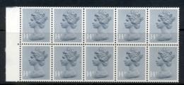 GB 1981 Machin 14px10 Grey Blue PCP2 Booklet Pane MUH - 1952-.... (Elizabeth II)