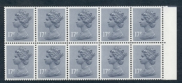 GB 1983 Machin 17p Grey-blue AOP D Underprint Booklet Pane MUH - 1952-.... (Elizabeth II)