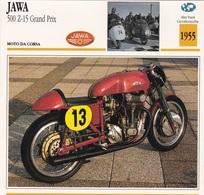 MOTO DA CORSA JAWA 500 Z 15 GRAND PRIX ALTRI PAESI CECOSLOVACCHIA 1955 DESCRIZIONE COMPLETA SUL RETRO AUTENTICA 100% - Advertising