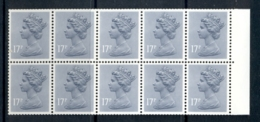 GB 1983 Machin 17p Grey-blue AOP Booklet Pane MUH - 1952-.... (Elizabeth II)