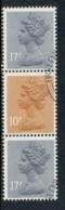 GB 1984 Machin 10p Orange Brown 2B, 2x17p Grey-blue 2b FU - 1952-.... (Elizabeth II)