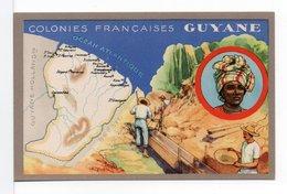 CARTE - COLONIES FRANÇAISES - GUYANE - Illustrateurs & Photographes