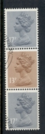 GB 1984 Machin 13p Chestnut 1xLB,2x17p Grey-blue 2B FU - 1952-.... (Elizabeth II)