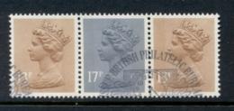 GB 1984 Machin 13p Chestnut 1xLB, 1xRB,17p Grey-blue 2B FU - 1952-.... (Elizabeth II)