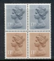 GB 1984 Machin 13p Chestnut 1xLB, 1xRB, 2x17p Grey-blue 2B MUH - 1952-.... (Elizabeth II)