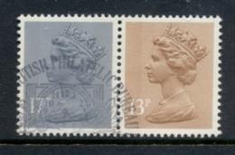 GB 1984 Machin 13p Chestnut LB,17p Grey-blue 2B FU - 1952-.... (Elizabeth II)