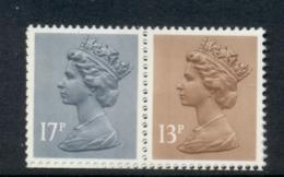GB 1984 Machin 13p Chestnut LB,17p Grey-blue 2B MUH - 1952-.... (Elizabeth II)