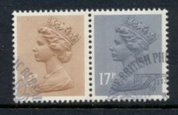 GB 1984 Machin 13p Chestnut RB,17p Grey-blue 2B FU - 1952-.... (Elizabeth II)
