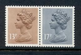 GB 1984 Machin 13p Chestnut RB,17p Grey-blue 2B MUH - 1952-.... (Elizabeth II)