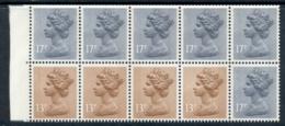 GB 1984 Machin 13p Pale Chestnut 2xLB, 2xRB, 6x17p Grey-blue 2B Booklet Pane MUH - 1952-.... (Elizabeth II)