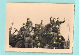 Colle Della Maddalena Cuneo 1942 Soldati Regio Esercito Fanteria Foto Di Gruppo Su Camion - Guerra, Militari