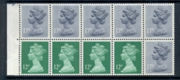 GB 1986 Machin 12p Bright Emarald 2xLB, 2xRB, 6x17p Grey-blue 2B Booklet Pame MUH - 1952-.... (Elizabeth II)