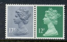 GB 1986 Machin 12p Bright Emarald LB, 17p Grey-blue 2B MUH - 1952-.... (Elizabeth II)