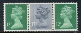 GB 1986 Machin 12p Bright Emarald LB,RB, 17p Grey-blue 2B MUH - 1952-.... (Elizabeth II)