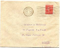 PARIS 114 / Bd De Strasbourg 1930 =  FLAMME FLIER Muette '7 Lignes Ondulées' - Marcophilie (Lettres)