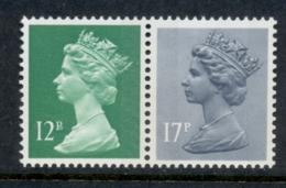 GB 1986 Machin 12p Bright Emarald RB, 17p Grey-blue 2B MUH - 1952-.... (Elizabeth II)