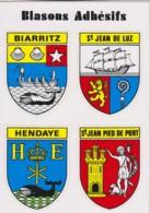 BIARRITZ, ST JEAN DE LUZ, HENDAYE, ST JEAN PIED DE PORT - BLASON, ECUSSON ADHESIF - CPM TBon Etat (voir Scan) - Biarritz