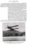 1924 L'Avion à Vitesse Réduite  Hydravion Du Commandant Le Prieur Sur Le Lac D'Annecy TBE - Vieux Papiers