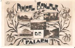 """CP. """"AMICAL BONJOUR De FALAËN"""" Hôtel De La Gare Omer Cobut-Spineux  En 1932 - Belgique"""