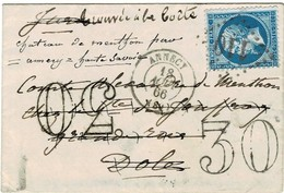 """1966, 20 C. """" Annecy """" Chiffre Taxe """" 30 """"  , #a1773 - Marcophilie (Lettres)"""