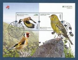 Portugal / Madeira  2019 , EUROPA CEPT Birds - Aves Nacionals - Block / Sheet - Gestempelt / Fine Used / (o) - 2019