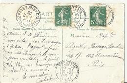 Aucazein. Ariège. FB 86 1909 - Marcophilie (Lettres)
