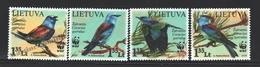 Lituanie – Lithuania – Lituania 2008 Yvert 852-55, Fauna Protection, WWF, Birds - MNH - Lituania