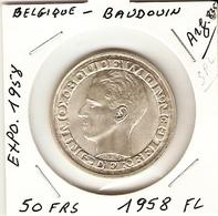 50 Francs 1958 FL  ( Exposition  1958 ) - 1951-1993: Baudouin I