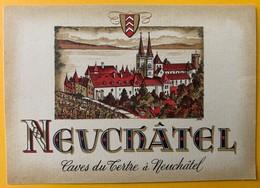 10699 - Neuchâtel Suisse Cave Du Tertre Ancienne étiquette - Etiquetas