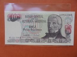ARGENTINE 10 PESOS 1983-84 PEU CIRCULER/NEUF - Argentine